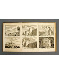 Vierpas van tegels met drietulp, 17e eeuw