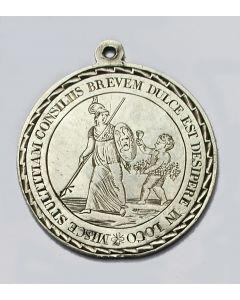 Gegraveerde zilveren penning, Senatus Veteranorum, Utrecht, 1814