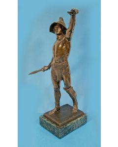 Ferdinand Lügerth, bronzen beeld, gladiator
