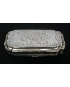 Gegraveerde zilveren tabaksdoos, Bremen, ca. 1760