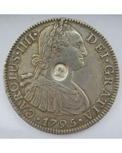 Groot Brittannië, 1 Dollar overslag op Mexico 8 reales 1795