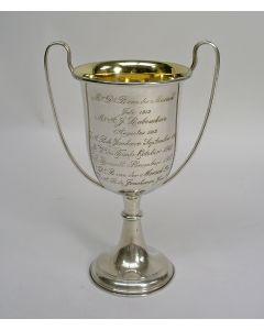Zilveren prijsbeker voor Golfsport,  Zeist, 1912/1913