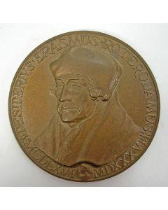 Erasmuspenning, door de Nederlandse Regering aangeboden aan de geallieerde bevrijders, 1984.
