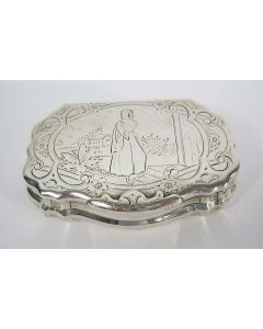 Gegraveerde zilveren snuifdoos, ca. 1800