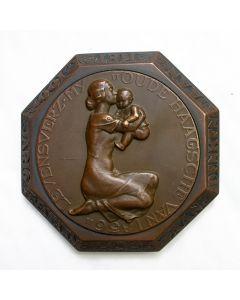 Penning / presse-papier, Honderdjarig bestaan van de Levensverzekeringsmaatschappij 'Oude Haagsche van 1836' [Toon Dupuis]