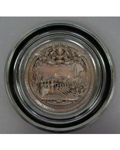 Wandbord, galvanoplastiek, 50 jaar Koninkrijk der Nederlanden,1863