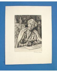 Engelien Reitsma-Valença, portret van Ina Boudier-Bakker, ets, 1953