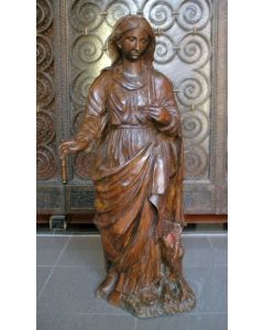Houten kerkbeeld, madonna, 18e eeuw