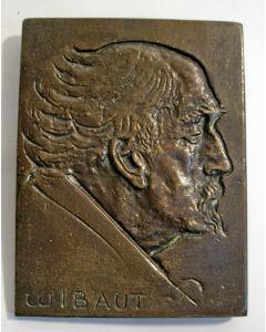 Frits Sieger, Wethouder F.M. Wibaut, bronzen plaquette, ca. 1930