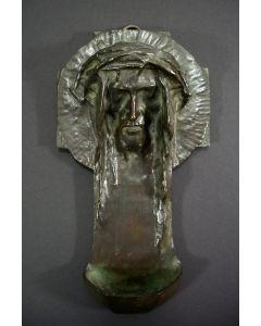 Bronzen wijwaterbak, Achille Leys, ca. 1920.