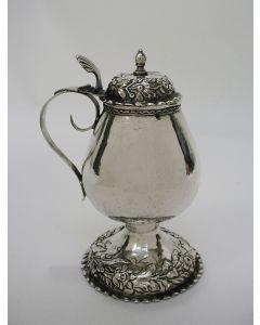 Zilveren mosterdpot, Lambert de Wilt, Amsterdam 1726
