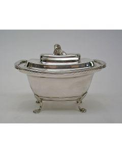 Zilveren tabakspot door Albertus Homan, Amsterdam 1827