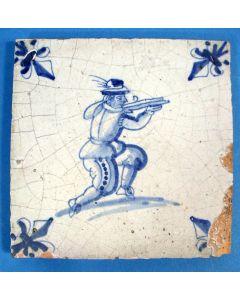 Krijgsmantegel, kruisboogschutter, 17e eeuw