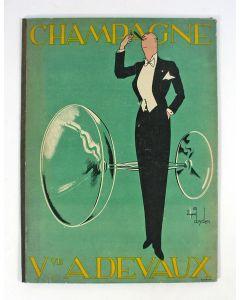 Menukaarthouder, Champagne Devaux, door A. Dryden, ca. 1930