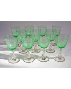 Kristallen witte wijnglazen