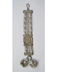 Zilveren horlogeketting met signetten, 1830