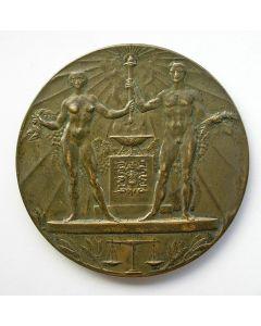 Deelnemerspenning Olympiade Amsterdam, 1928 {J.C. Wienecke]