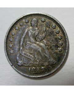U.S.A. half dime, 1857