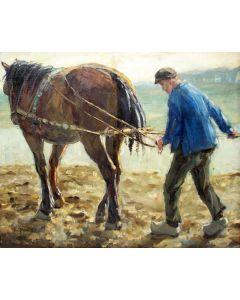 Evert Bomhof, Ploegende boer