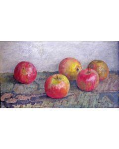 Jan Tiele, stilleven met appels
