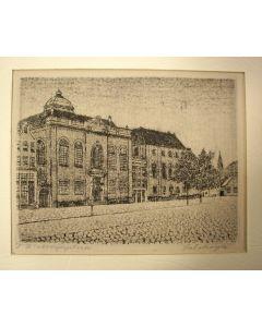 Sal Meijer, J.D. Meijerplein met de Grote Synagoge, ets