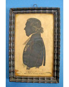 Silhouet in lijst, dominee Dirk Molenaar (1786-1865)