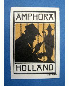 Sluitzegel voor de aardewerkfabriek Amphora, door Chris van der Hoef, ca. 1915