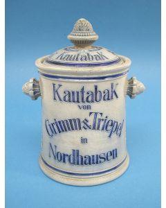 Dekselpot voor pruimtabak, Duitsland ca. 1900