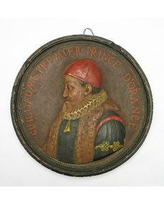 Terracotta plaquette, Willem van Oranje, 19e eeuw