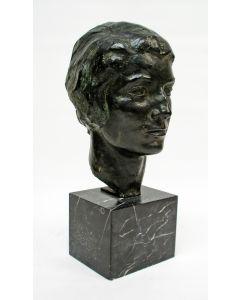 Jobs Wertheim, portret van Jeanna Vogelsang, brons, ca. 1935
