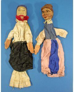 Twee poppenkastpopen
