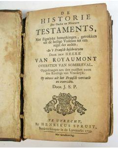 Van Royaumont, 'De historie des Ouden en Nieuwen Testaments', 1739