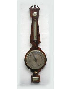 Mahoniehouten barometer, A. Reballio, Rotterdam, 19e eeuw