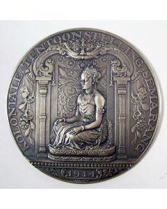 Zilveren penning ter gelegenheid van de Koloniale Tentoonstelling, Semarang, 1914, op naam van C.J.K. van Aalst [door J.C. Wienecke]