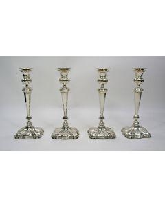 Vier zilveren kandelaars, Jacobus Schalkwijk, Rotterdam 1843