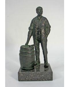 Robbert-Jan Donker, 'De kuiper', bronzen sculptuur, 1995
