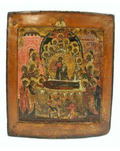 Russische icoon, Ontslapen der Moeder Gods, 18e eeuw