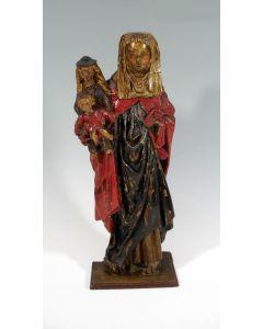 Houten heiligenbeeld, Sint Anna te Drieën, Mechelen ca. 1500