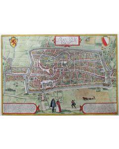 De stad Utrecht, gravure door Braun en Hogenberg, ca. 1580