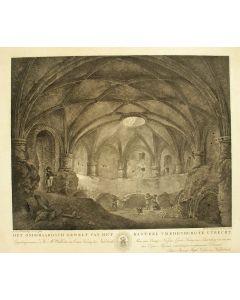 'Het onderaardsch gewelf van het kasteel Vredenburg te Utrecht.', ets/aquatint, 1816