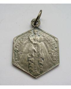 Penning, Regeringsjubileum van Koningin Wilhelmina, 1923, vervaardigd voor de Nederlands-Indische markt [Chris van der Hoef]