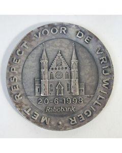 Zilveren penning, 75 jaar Rabobank Den Haag, 1998