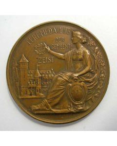 Eremedaille van de Gemeente Zeist ter herinnering aan de Indische Militaire Dienst, op naam van Majoor W. Baron Röell, 1949