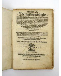 Willem van Oranje, Apologie ofte Verantwoordinghe […], 1581