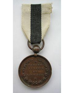Prijsmedaille van de Tekenacademie van Middelburg, gegraveerd op naam, 1860