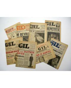 8 exemplaren van het propagandablad 'De Gil', 1944