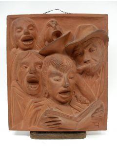 Terracotta plaquette naar Han van Meegeren, ca. 1930
