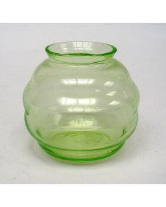 Annagroen glazen violenvaasje, Copier Leerdam, 1923