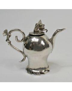 Zilveren miniatuur koffiepot, Hendrik Duller, Amsterdam, 1791