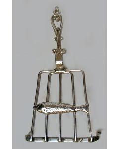 Zilveren miniatuur vistreeft, 18e eeuw